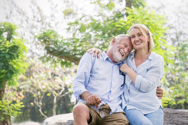 Couple-in-their-60s-Laughing-and-Having-a-Good-Time